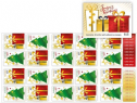 AUS SG4831a Christmas 2017 Festive Present and Tree self-adhesive booklet (SB591) pane